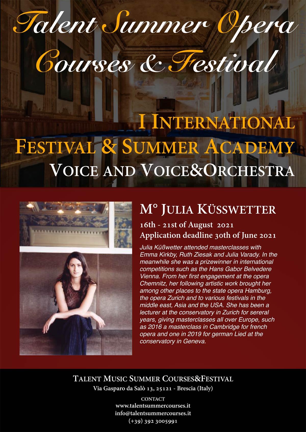 Brescia Masterclass mit Julia Küßwetter